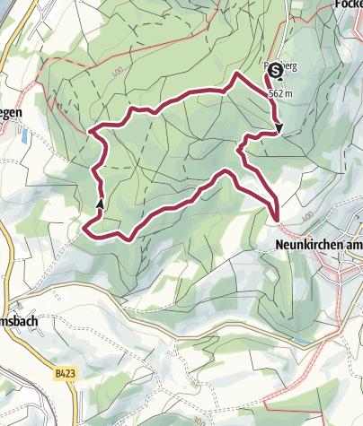Karte / Potzberg: Großer Südlicher Rundweg