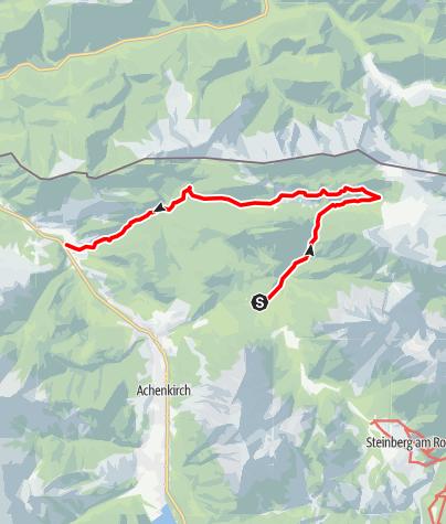 Karte / Vom Kögelboden nach Achenwald im Norden von Achenkirch