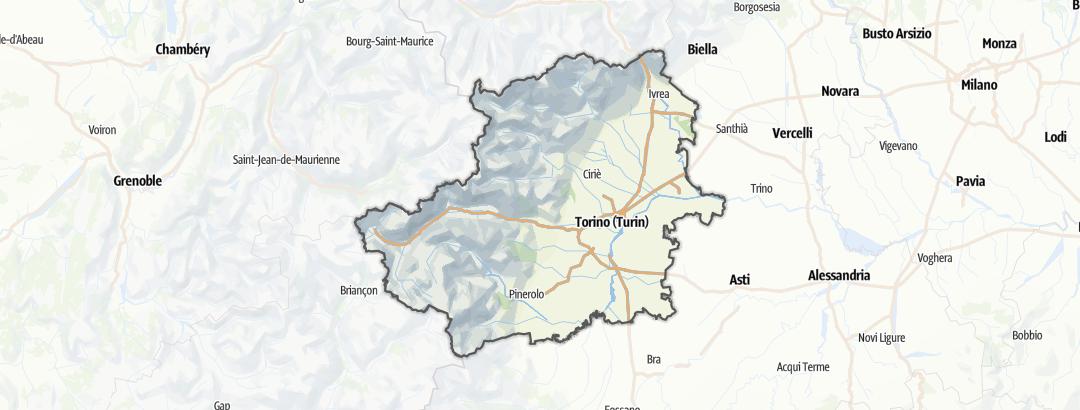 Kart / Barrierefreier Urlaub i Torino