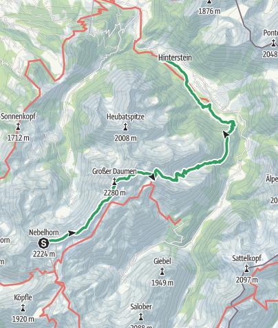 Karte / Hindelanger Klettersteig
