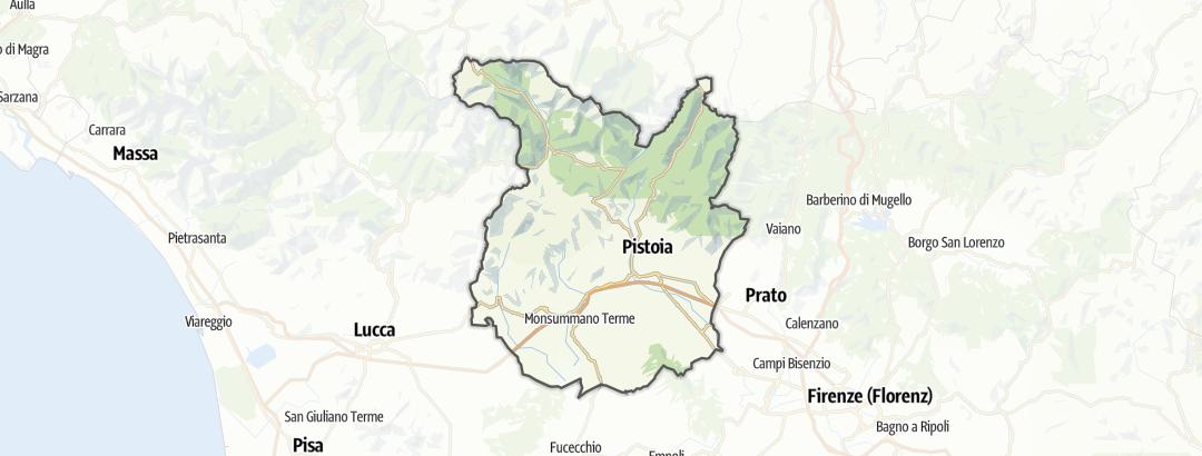 Mapa / Dovolená se psem v oblasti Pistoia