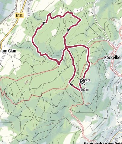 Map / Potzberg: Großer Westlicher Rundweg