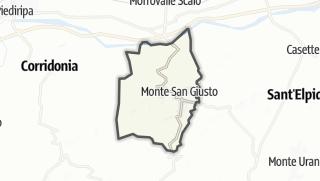 Hartă / Monte San Giusto