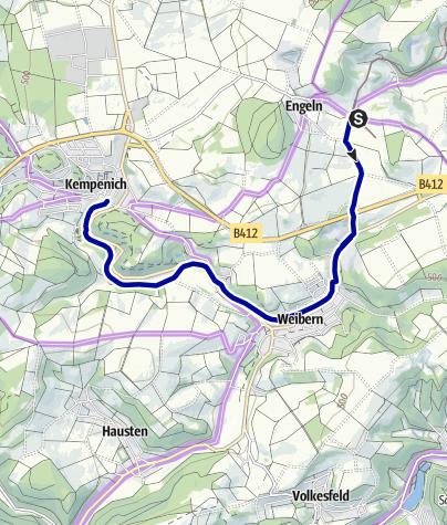 Karte / Auf den Spuren der Brohltalbahn: Über den Brohltal-Radweg nach Weibern und Kempenich