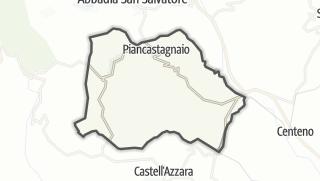 מפה / Piancastagnaio