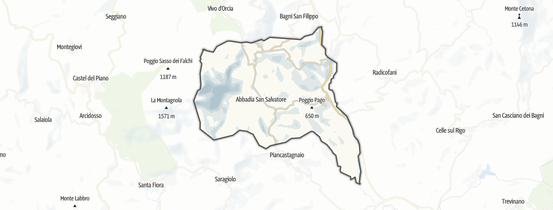 Map / Long distance hiking trails in Abbadia San Salvatore