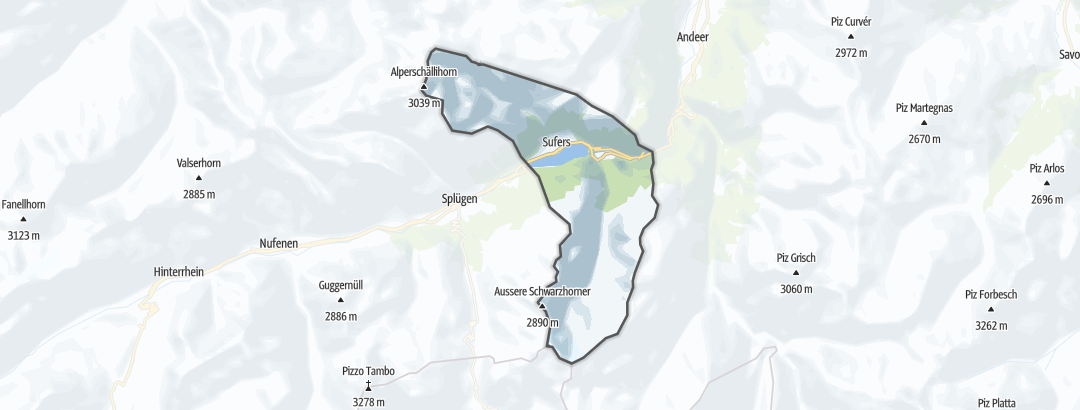 Map / Road cycling routes in Sufers