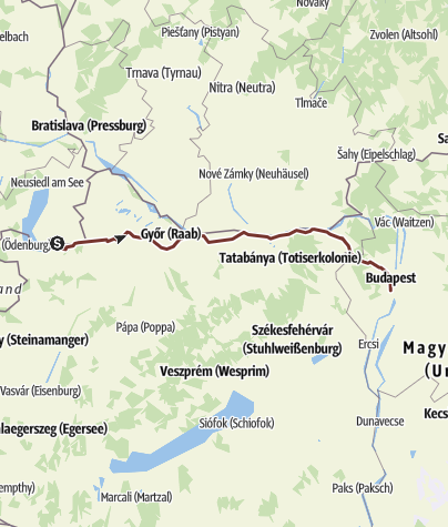 Karte / Pamhagen - Budapest