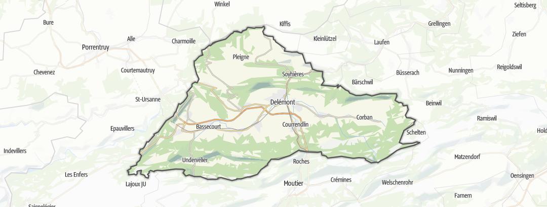 Map / Delémont