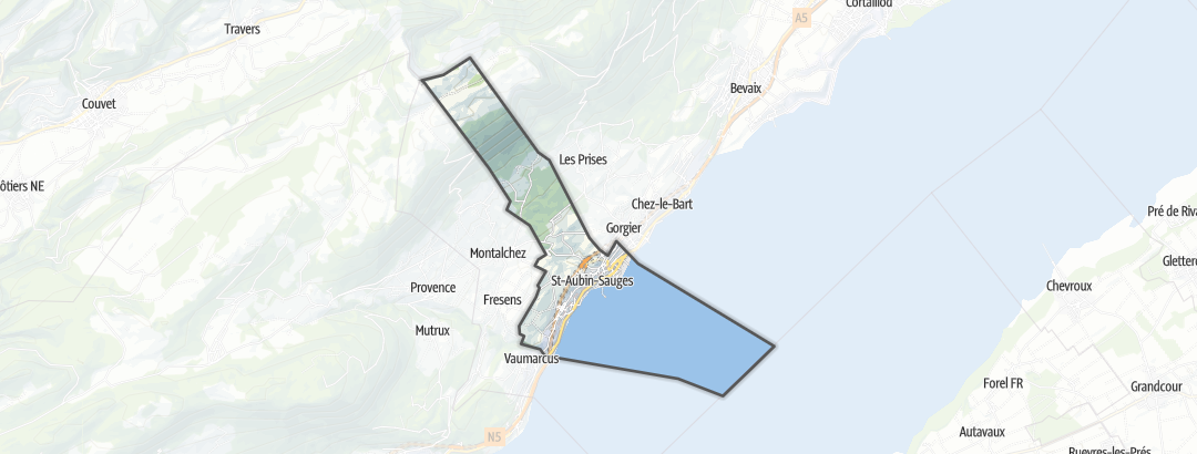 Hartă / Drumeții montane in Saint-Aubin-Sauges