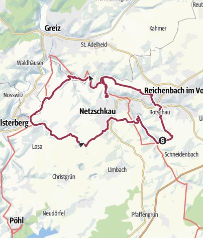 Karte / Rund um die Gölschtalbrücke