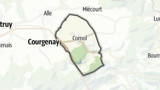 מפה / Cornol
