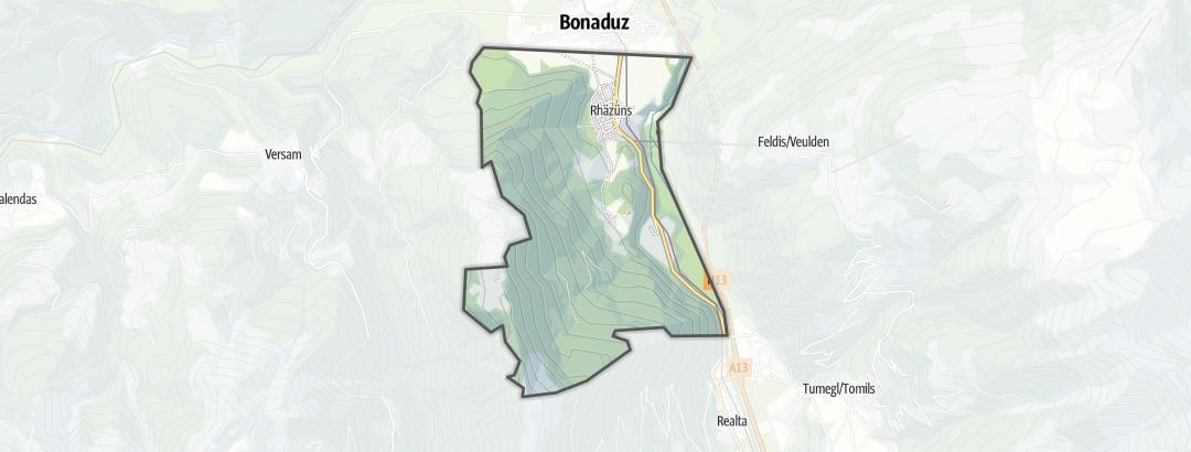 Mapa / Passeios de bicicleta em Rhäzüns