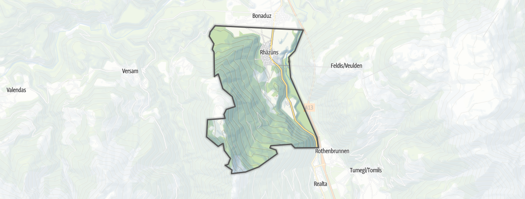 Mappa / Mountain bike a Rhäzüns