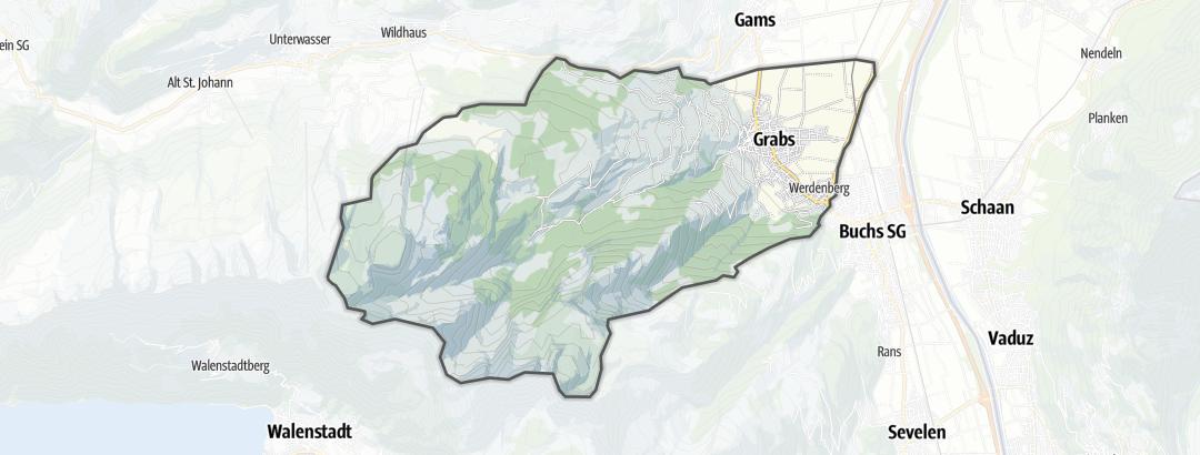 Carte / Circuits de randonnée - Grabs
