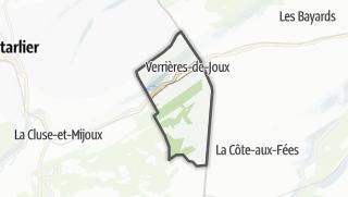 Mapa / Verrières-de-Joux