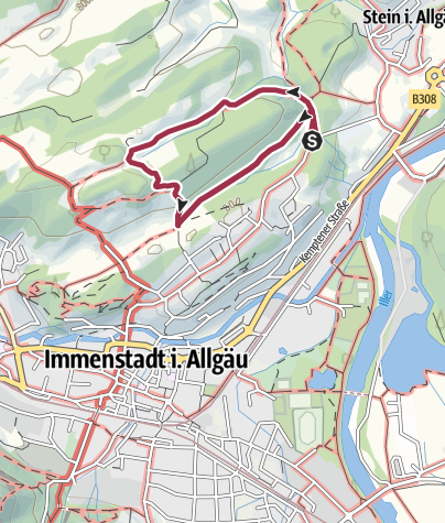Karte / Hinauf zur Rothenfels-Alpe bei Immenstadt