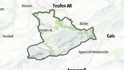 Mapa / Schlatt-Haslen