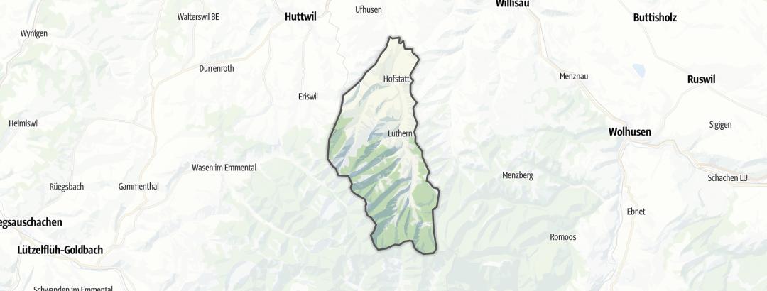 Карта / Тропы горного велосипеда в Luthern