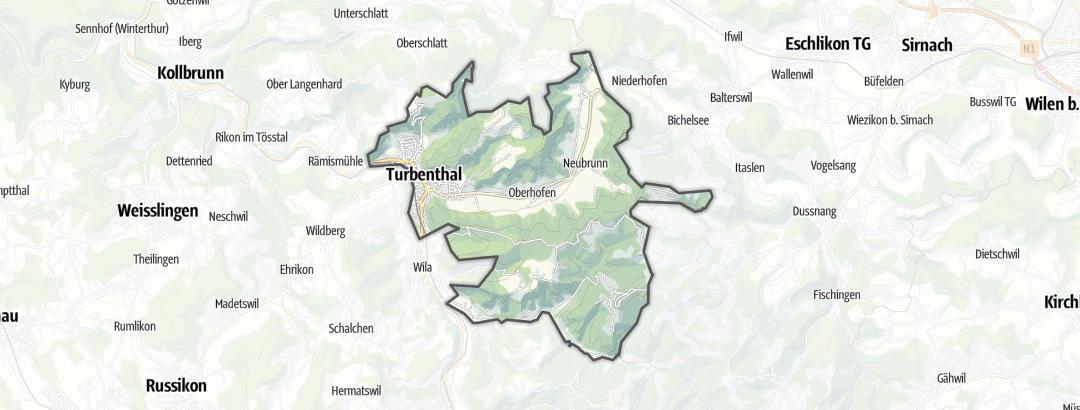 Karte / Wandern in Turbenthal
