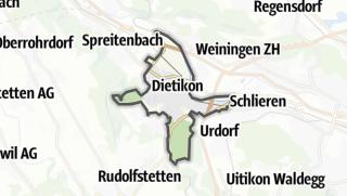 Cartina / Dietikon