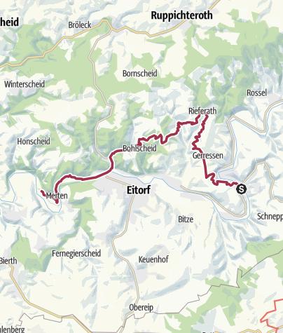 Karte / Herchen - Merten