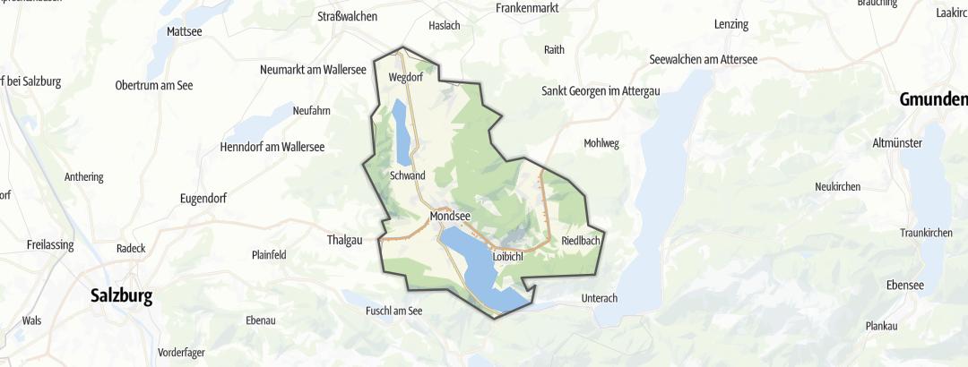 Mapa / Poutě v oblasti Mondseeland