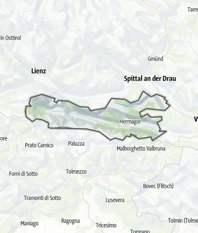 Karte / Nassfeld-Lesachtal-Weissensee
