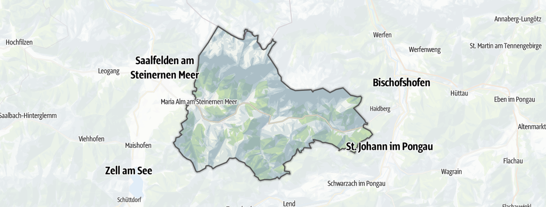 Karte / Berghütten am Hochkönig