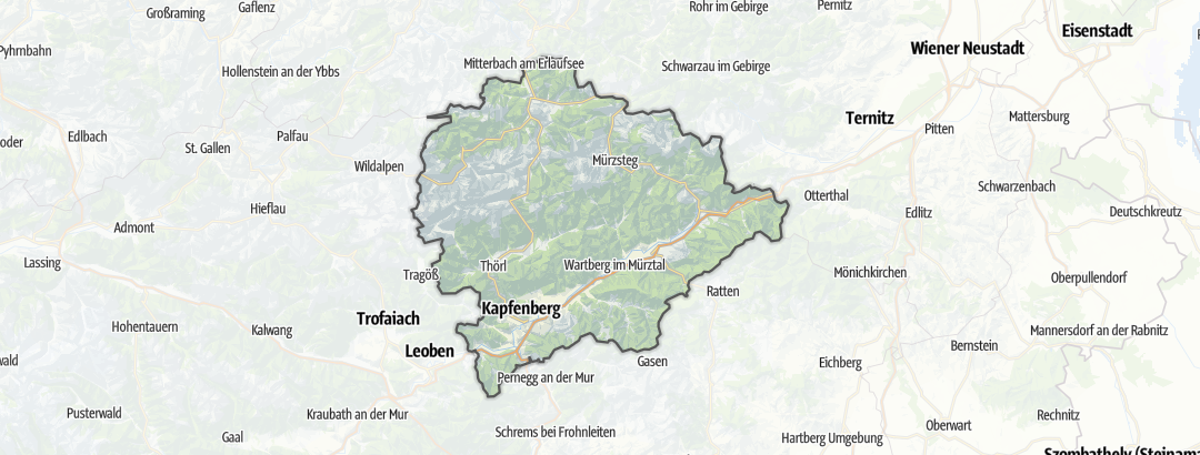 Kartta / Pyöräilyreitit kohteessa Hochsteiermark