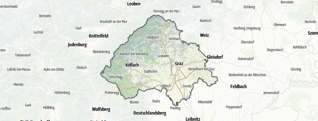 Mapa / Urlaub mit Hund em Graz und Umgebung
