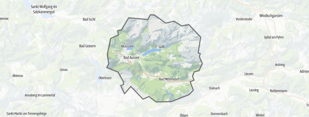 Kartta / Vuoristoreitit kohteessa Ausseerland-Salzkammergut