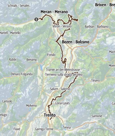 Karte / Craft Bike Transalp 2014 Etappen 4 bis 6