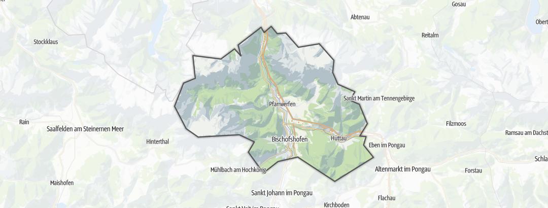 Térkép / Hegyikerékpározás,  Tennengebirge területén