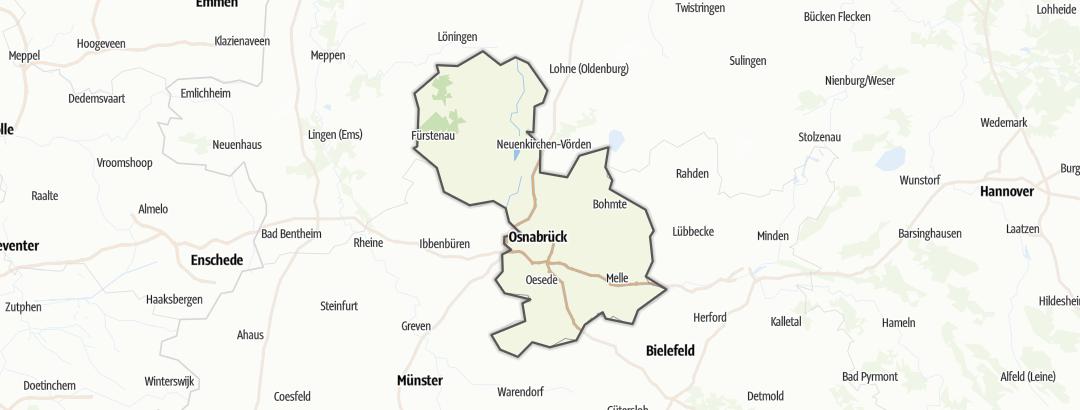 Map / Nature trails in Osnabrücker Land