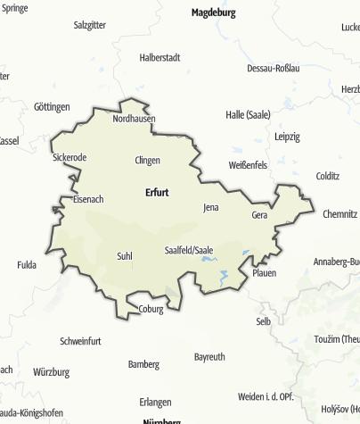 Karte / Thüringen