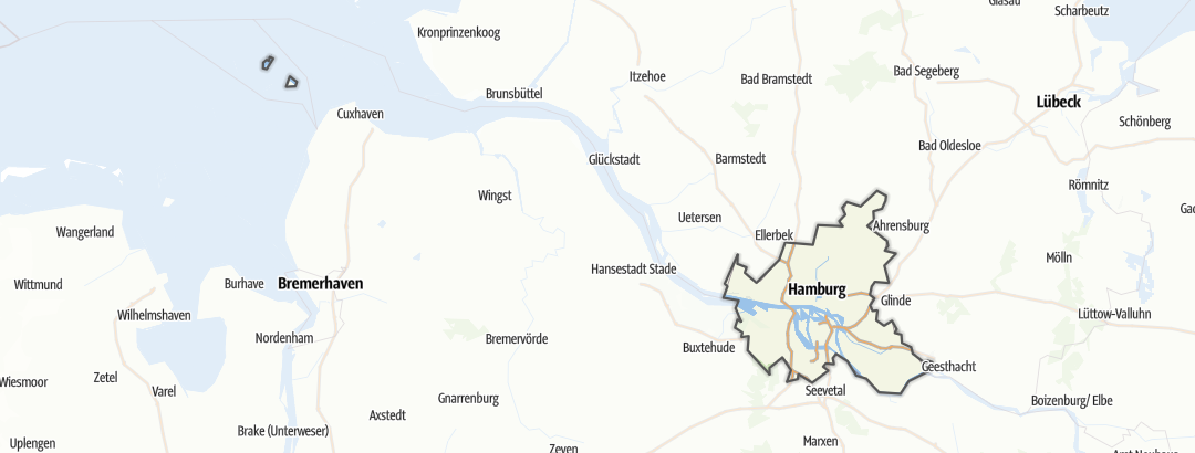 Map / Bike rides in Hamburg