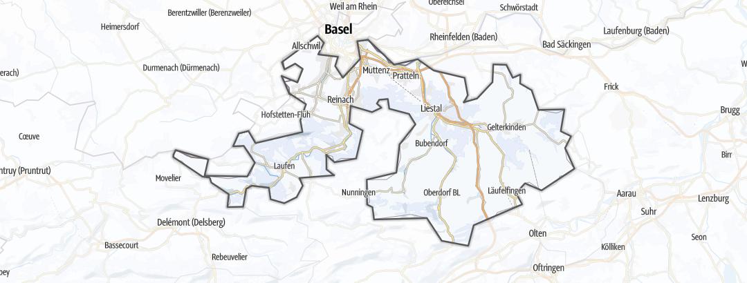 地图 / 在Basel-Country里的冬季活动