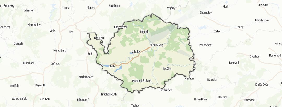Map / Bike rides in Karlovarský kraj