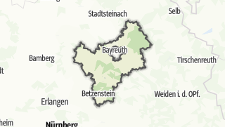 Mapa / Bayreuth