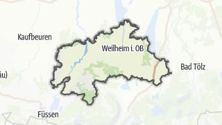 Mapa / Weilheim-Schongau
