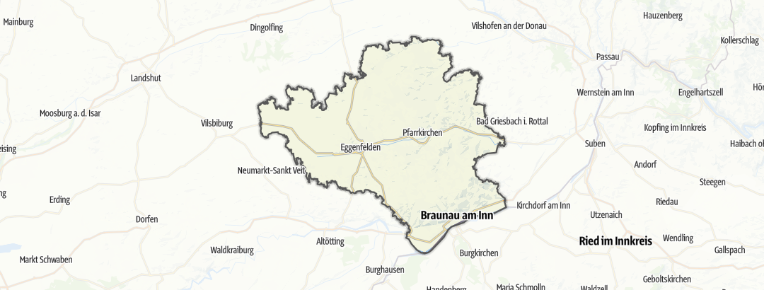 Karte / Die schönsten Ausflugsziele in Rottal-Inn