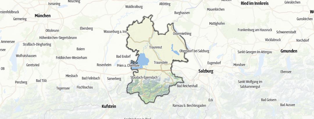 Map / Trail runs in Traunstein