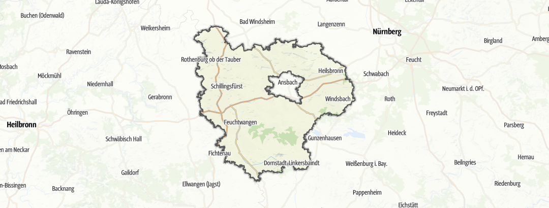 Map / Bike rides in Ansbach