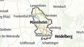 Karte / Mannheim
