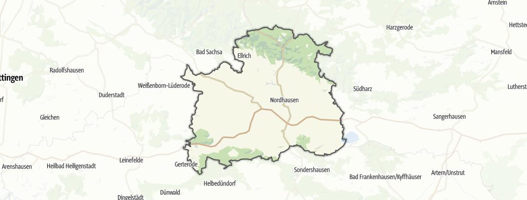 מפה / מערות בנורדהאוזן