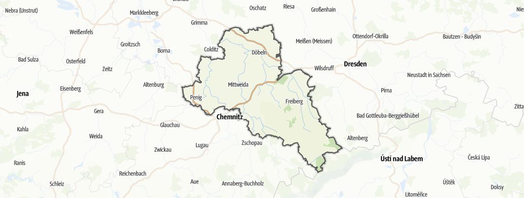 Carte / Chemins de pèlerinage - Mittelsachsen