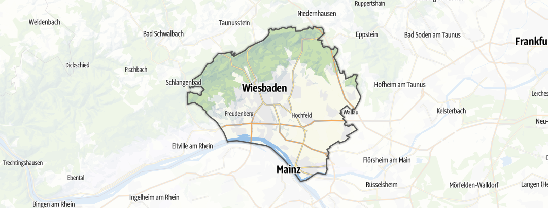 Karte / Fernwanderwege in Wiesbaden