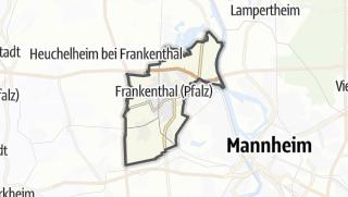 Karte / Frankenthal (Pfalz)