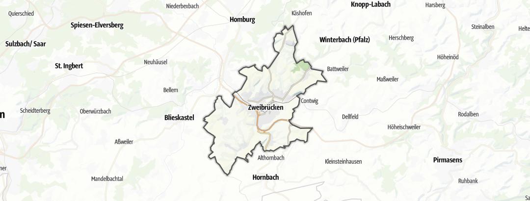 Karte / Radfahren in Zweibrücken